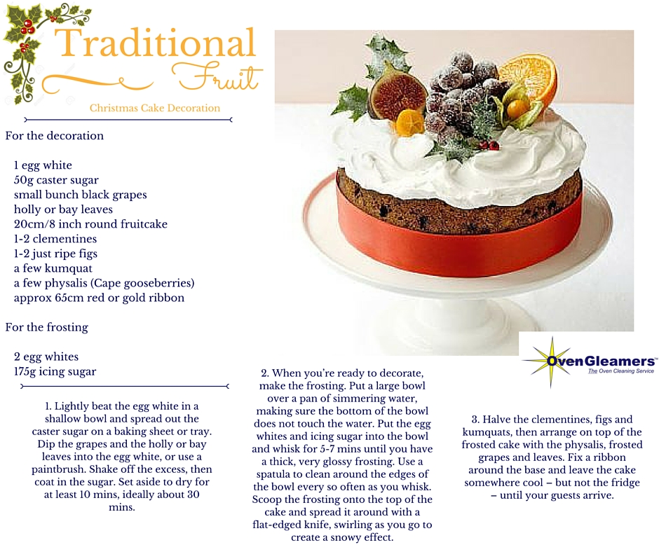 Christmas Cake Decoration With Fruit And Nuts : Christmas Cake Decoration Ideas - OvenGleamers